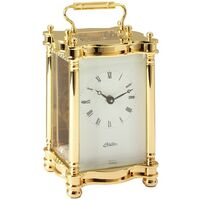 Gold Brass Carriage Clock 14.5cm - Haller - 2406
