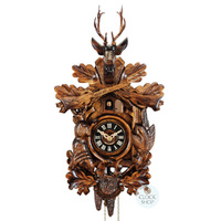 CARVED 1 DAY AFTER THE HUNT 40CM CUCKOO CLOCK BY ENGSTLER