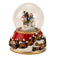 CHRISTMAS SNOW GLOBE WITH MUSIC AND LIGHT