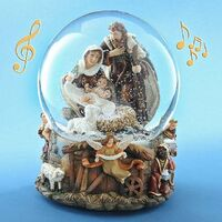 NATIVITY SNOW GLOBE WITH MUSIC TUNE SILENT NIGHT