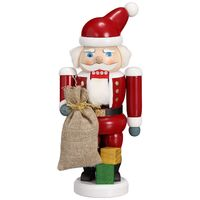 Santa With Sack Nutcracker 21cm
