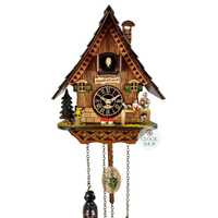 Chalet Battery Pinocchio With Geppetto 25cm Cuckoo Clock By TRENKLE