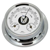 CHROME MARITIME BAROMETER/THERMOMETER/HYGROMETER BY FISCHER