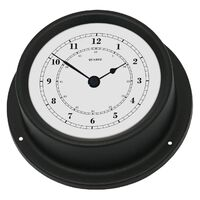 BLACK MARITIME CLOCK 12.5CM BY FISCHER