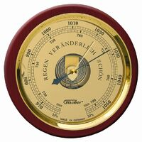 Mahogany Maritime Barometer 24cm By FISCHER