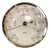 GOLD BAROMETER INSERT WITH IVORY DIAL 84MM BY FISCHER