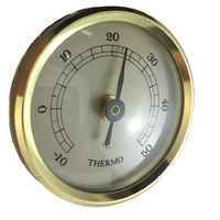 GOLD THERMOMETER INSERT WITH IVORY DIAL 42MM BY FISCHER