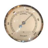 GOLD HYGROMETER INSERT WITH IVORY DIAL 63MM BY FISCHER