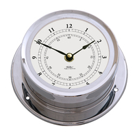 CHROME MARITIME CLOCK 16.5CM BY FISCHER