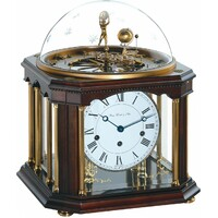 Walnut Tellurium III Table Clock BY HERMLE