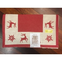 REINDEER RED TABLE RUNNER  40 X 100CM BY SCHATZ