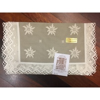 Dark Edelweiss Table Runner  40 X 100cm By Schatz