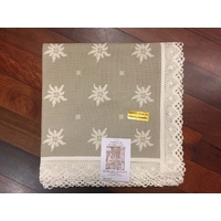 Dark Edelweiss Table Cloth 145 X 145cm By Schatz