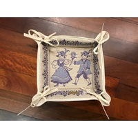 Dancers Blue Bread Basket By Schatz