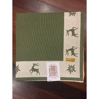 REINDEER GREEN TABLECLOTH 80 X 80CM BY SCHATZ