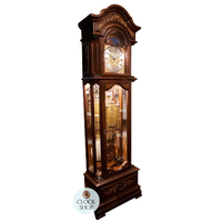 Exclusive Triple Chime Grandfather Clock With Shelves By SCHNEIDER