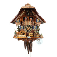 Chalet Hunter & Deer with Water Wheel - Hones - 6216TS