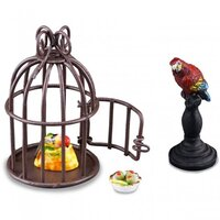 MINIATURE PARROT IN CAGE