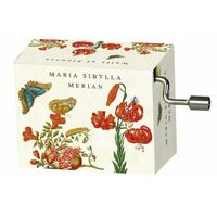 Music Box Hand Crank Maria Sibylla Merian - Waltz Of Flowers