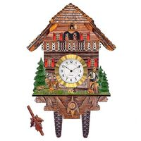 WOOD CHOPPER WITH DEER MINI CLOCK