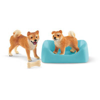 Farm World - Shiba Inu Mother and Puppy