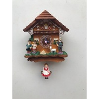 HEIDI HOUSE CUCKOO CLOCK FRIDGE MAGNET WITH HEIDI ON PENDULUM
