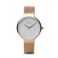 Max Rene - Rose Gold White Dial Rose Gold Strap
