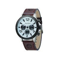 Branford White Dial Brown Strap