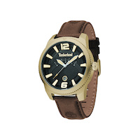 Gold Rowley Watch - Khaki Strap By TIMBERLAND