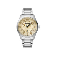 SILVER THAYER WATCH - SILVER METAL BAND BY TIMBERLAND