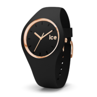 Glam Collection Black/Rose Gold Watch with Black Dial By ICE