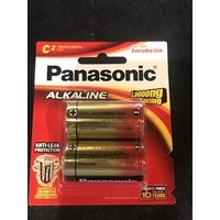 Panasonic C Alkaline Batteries 2 Pack