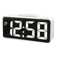 TALOS - WHITE LED USB SMART CONNECTOR ALARM CLOCK BY ACCTIM
