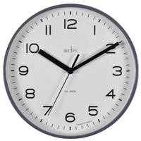 RUNWELL - SMOKE WALL CLOCK 20CM BY ACCTIM