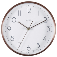 AVA - COPPER METAL WALL/DESK CLOCK 15CM BY ACCTIM