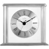 HAMILTON - FLOATING DIAL TABLE CLOCK IN SILVER BY ACCTIM