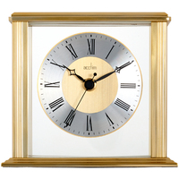 HAMILTON - FLOATING DIAL TABLE CLOCK IN GOLD BY ACCTIM