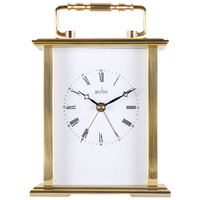 GAINSBOROUGH - GOLD CARRIAGE CLOCK WITH ALARM BY ACCTIM