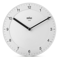 White Classic Analogue 20cm Wall Clock