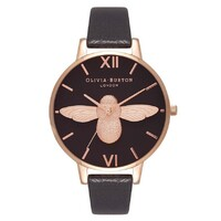 Bee Collection Black Dial & Rose Gold