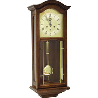 Walnut Regulator Westminster Chime with Brass Partition Glass