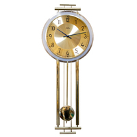 Gold Pendulum Wall Clock With Westminster Chime By AMS