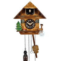 CHALET BATTERY HOUSE WITH WATER TROUGH 16CM CUCKOO CLOCK BY ENGSTLER