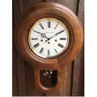 ROUND CHIMING STATION CLOCK WITH PENDULUM 56CM BY AMS