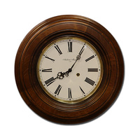 Round Striking Station Clock 40cm By AMS
