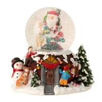 CHRISTMAS VILLAGE SNOW GLOBE WITH LED, MUSIC AND MOVEMENT 20CM