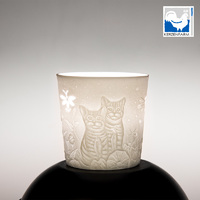 Cat Porcelain Cup For Tealight