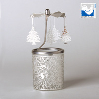 CHRISTMAS TREE GLASS CANDLE CAROUSEL