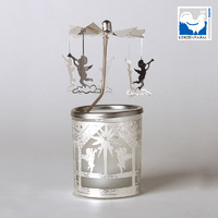 ANGEL'S TRUMPET GLASS CANDLE CAROUSEL