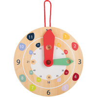 WOODEN TEACHING CLOCK - LEARN TO TELL THE TIME